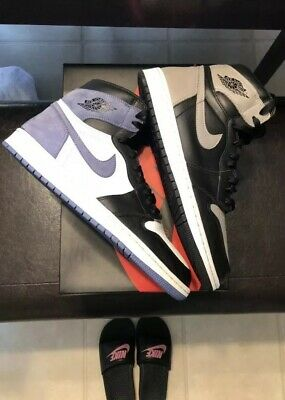 info for dbabc 21444 Nike Air Jordan Retro 1 High OG White Blue Moon Black Size 13 (555088-