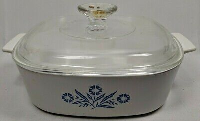 Corning Ware Blue Cornflower Vintage 2 Quart Casserole with Lid