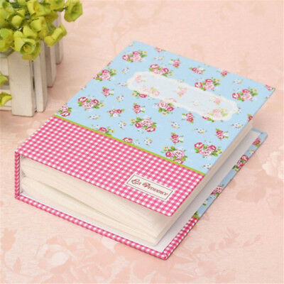 "4x6"" Floral Memory Photo Album Holders 100 Photos Storage Case Wedding Gift Pink"