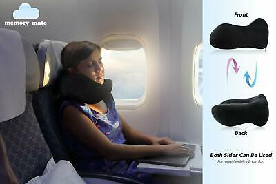 Neck Support Memory Foam Pillow with Phone Pocket for Travellers