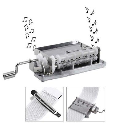 DIY 30 Note Hand Cranked Music Box Movement+Hole Puncher+20/pcs Paper Tape Music