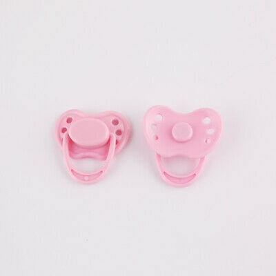 Dummy Magnetic Pacifier For Reborn Baby Internal Magnet Dolls Accessories Pink