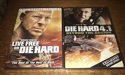 Live Free or Die Hard / Die Hard 4.1 Beyond the Action DVD's NEW Free Shipping