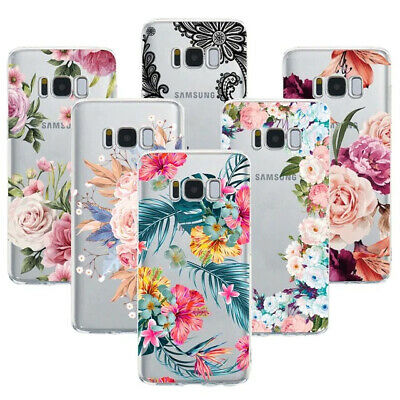 Sexy Floral Phone Soft TPU Back Cover Case For Samsung Galaxy For S10/S10e/ S10+