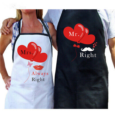 Mr And Mrs Black And White Aprons Kitchen Wedding Bridal Shower