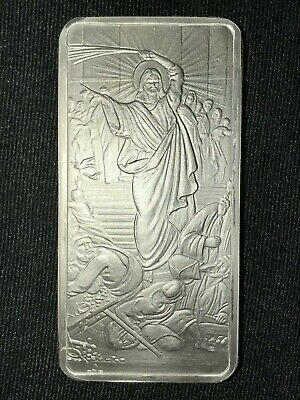 Jesus Christ Clears the Temple 10 Ounce Oz .999 Fine Silver Shield Bullion Bar