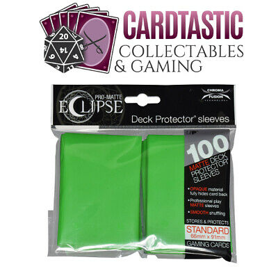 Ultra Pro Pro-Matte Eclipse Deck Protector Sleeves Standard 100ct Green