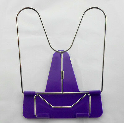 Pro Book Holder Stand Portable Adjustable Angle Document Reading Foldable Purple