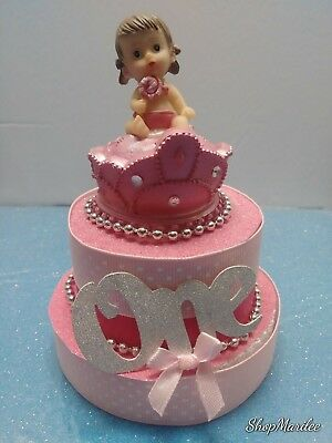PRINCESS CROWN 1ST First Birthday Cake Topper Table Decoration ...