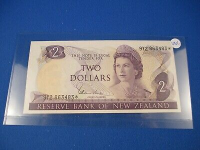 New Zealand $2 Star Note - Hardie - Uncirculated