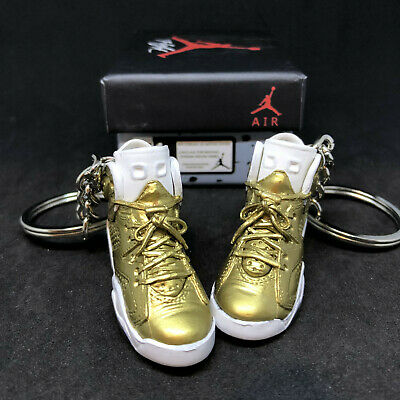 628368f0ab8d24 Air Jordan Vi 6 Retro Pinnacle Gold Og 3D Sneakers Keychain 1 6 Figure Shoes
