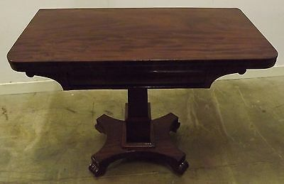 Antique Victorian Mahogany Fold-Over Tea Table Occasional Table Side Table