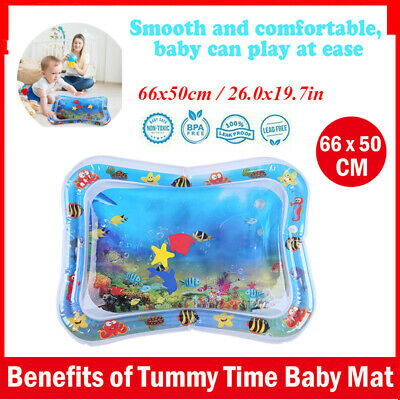 Baby Kids Inflatable Water Play Mat Toddlers Tummy Time Play Activity Center Toy