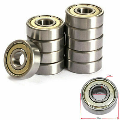 10Pcs 623zz 624zz 625zz 626zz 688zz Deep Groove Ball Bearing Miniature Bearings