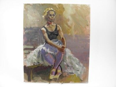 British Impressionist oil painting by Roy Pettitt portrait of a young lady #31