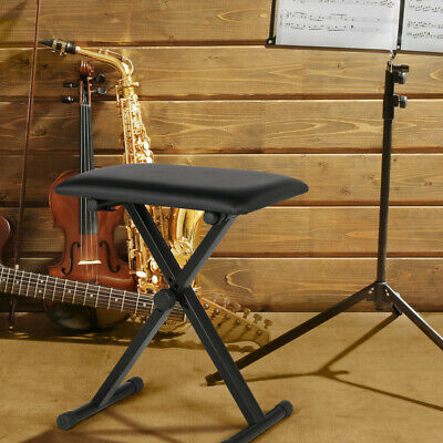 Adjustable Pro X Frame Piano Stool Keyboard Bench Keyboard Stand Music Stand New