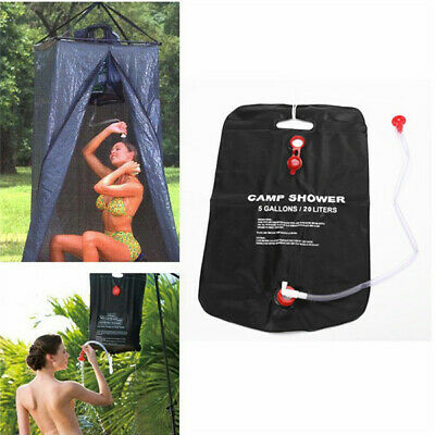 Portable Solar Energy Heated Shower Outdoor Camping Hiking Camp PVC Bag 20L