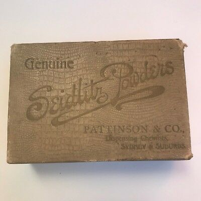 vintage genuine seidlitz powders pattinson & Co. sydney & suburbs box 100yrs Old