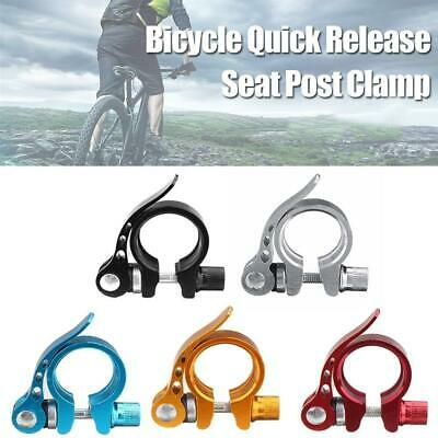25.4,28.6,31.8mm MTB Bike Bicycle Saddle Seat Post Clamp Quick Release QR S N9J7