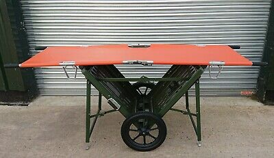 BRANCARRY Foldable Stretcher Cart With FERNO DUO FOLD Stretcher First Aid