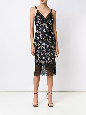 7b00ac3fe34c5 DIANE VON FURSTENBERG DVF Margarit Army of Hearts Slip Dress Size 8 NWT $398