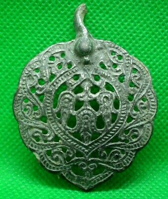 Large Ancient Celtic Openwork Silver Amulet Decoration - 200/100 Bc - Rare