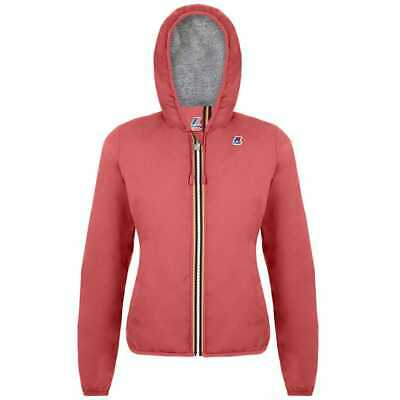 K-Way Giacca Giubbotto Lily Poly Jersey Bambina Pink Coral K008780