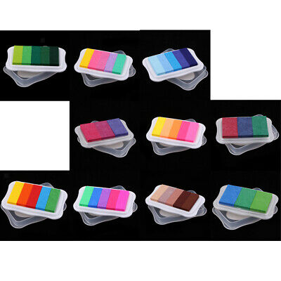 Sponge Finger Painting Rainbow Pigment Ink Pad Stamps For Kids Toy Art Craft