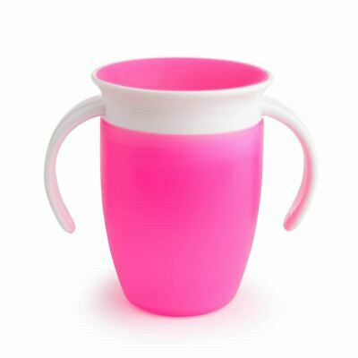 Munchkin MIRACLE 360 TRAINER CUP 207ML PINK Baby Feeding - NEW