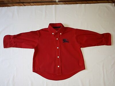 BURBERRY Baby Red long sleeves Shirt Size 18 Months