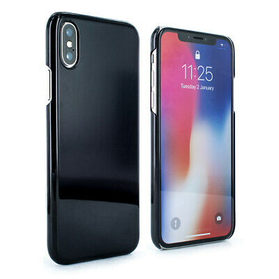 Luxury Protective Ultra Thin Slim Hard Back Case Cover for Apple iPhone X Black