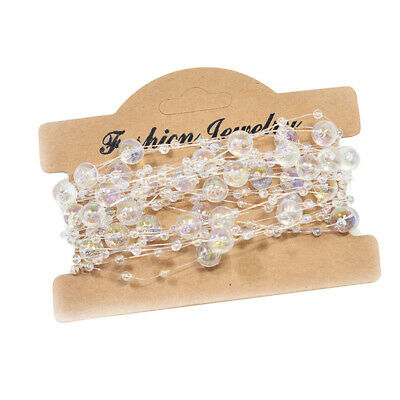 5m Transparent Beads Chain for Wedding Party Tree Garland Decoration Crafts