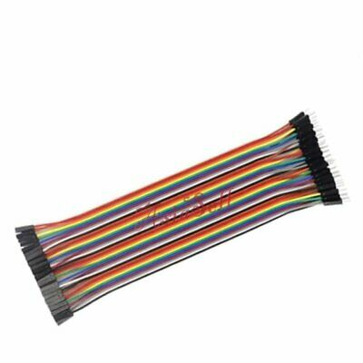 40pcs 10cm 2.54mm Single 1pin Male to Female Jumper Wire Dupont Cable Cables M-F
