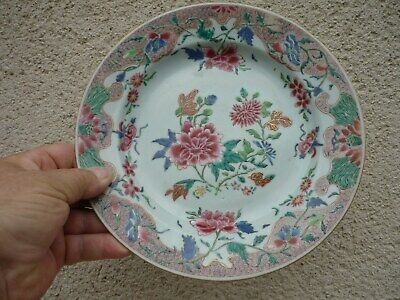 Assiette Porcelaine De Chine Xviii Compagnies Des Indes Richement Decoree