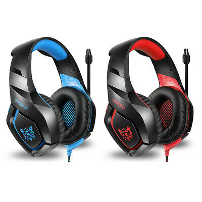 ONIKUMA K1 3.5mm Gaming Headset Mic Headphone Stereo Bass for PC PS4 Xbox T6A1