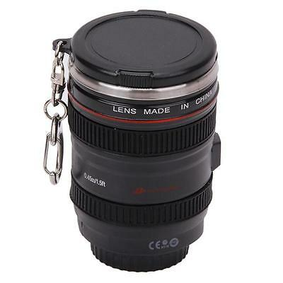 Creative Stainless Steel Camera Lens Cup Coffee Travel Mug Thermos Leak-Proof MH