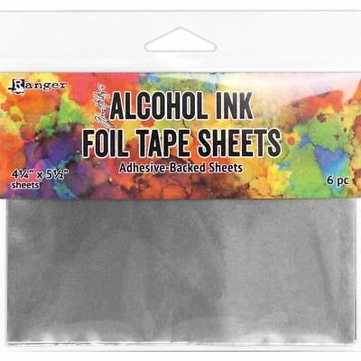 "Tim Holtz Alcohol Ink Foil Tape Sheets - 4.25""X5.5"" - 6 Sheets"