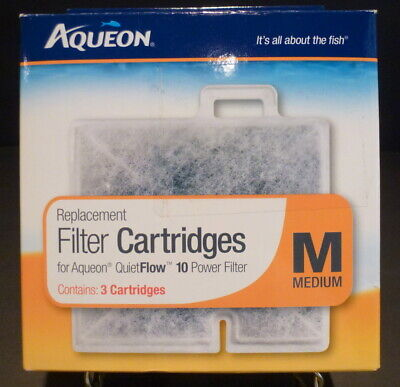 Aqueon Replacement Filter Cartridges Medium 3 pack | Fits QuietFlow LED PRO 10