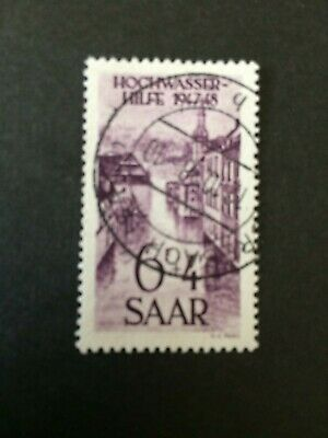 Germany - Saar- 1948 Flood Relief - 6pf value Used