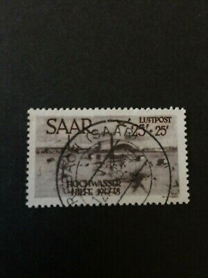 Germany - Saar- 1948 Flood Relief - 25pf value Used