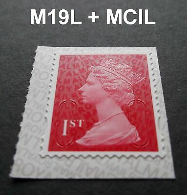 2019 1st Class Red M19L + MCIL Machin - SINGLE MINT STAMP U2968g