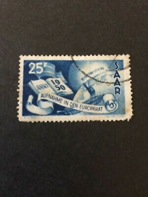 Germany - Saar- 1950 25pf - Used