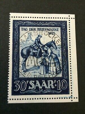Germany - Saar- 1952 - Stamp Day - Used - Great cancel