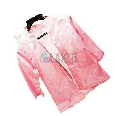 Waterproof Kids Raincoat 4/5 yrs Children Rain Suit Jacket Cover Pink (Medium)