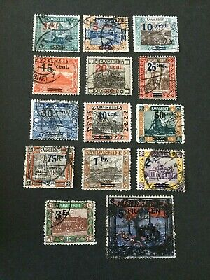 Germany - Saar- 1921 French currency overprint complete set - Used
