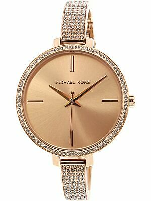 Nwt Mk3785 Womens Michael Kors Jaryn Rose Gold Watch Pave Bangle