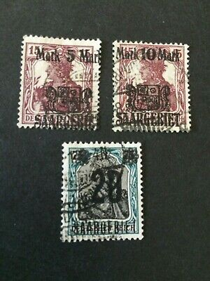 Germany - Saar- 1921 Surcharges complete set - Used