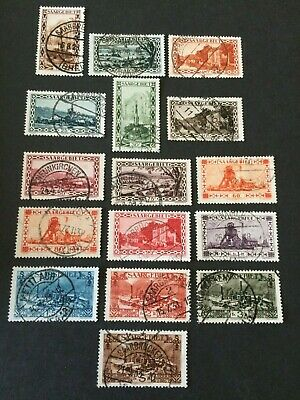 Germany - Saar- 1926 Views complete set includes later 60pf & 90pf - Used