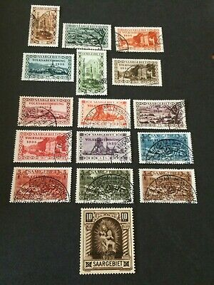 Germany - Saar- 1934 Overprint Volksabstimmung set  - Used++