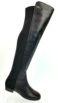 438443431c2 VINCE CAMUTO KARITA Over The Knee Black Leather Elastic Stretch Boots  Womens 5 M
